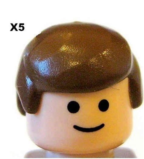 Lego Heads With Hair | lego 5 pieces male hair brown for minifigs new