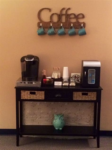 coffee bar for my therapy office the therapist s office