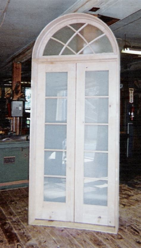 Custom Made Interior Solid Wood Doors French Arch Top Arch Top Interior Doors