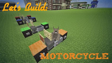 minecraft motorcycle minecraft let s build motorcycle youtube