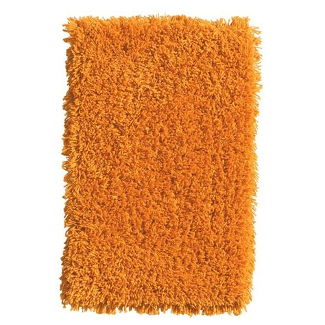 shaggy orange rug home decorators collection ultimate shag orange 8 ft x 10 ft area rug 7575470570 the home depot