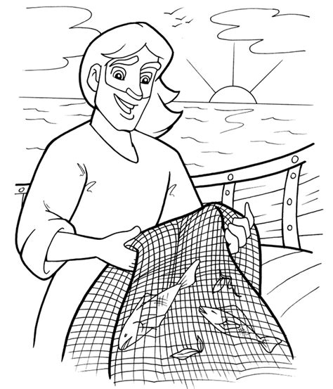 Fishers Of Coloring Page fishers of coloring page bible class servant