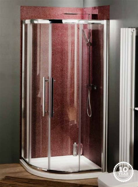 Clean Glass Shower Screen by Quadrant Shower Cubicle Easy Clean Glass 900 X
