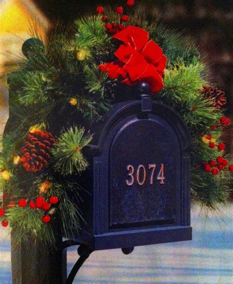christmas decor mailbox there s no place like home