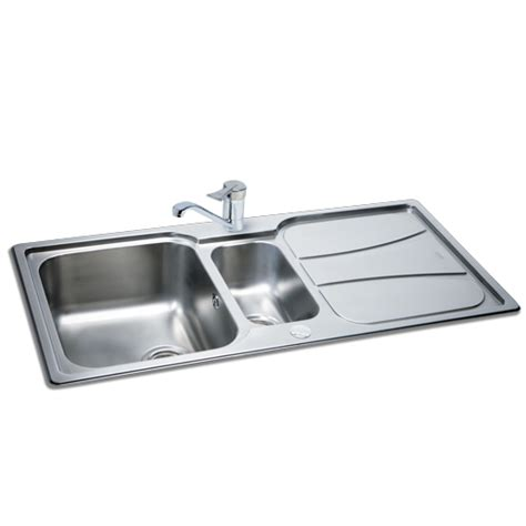 leisure kitchen sink spares carron phoenix zeta 150 sink with drainer fittings only 163 199
