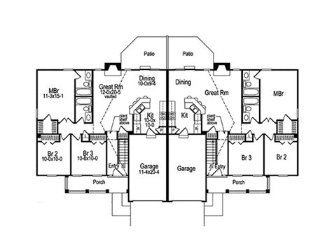 multi family house plans duplex shadydale multi family duplex plan 007d 0020 house plans