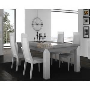 table moderne de salle 224 manger bois et laque plateau de