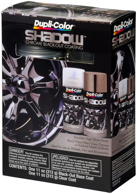 dupli color paint shd1000 dupli color shadow chrome black out coating kit ebay