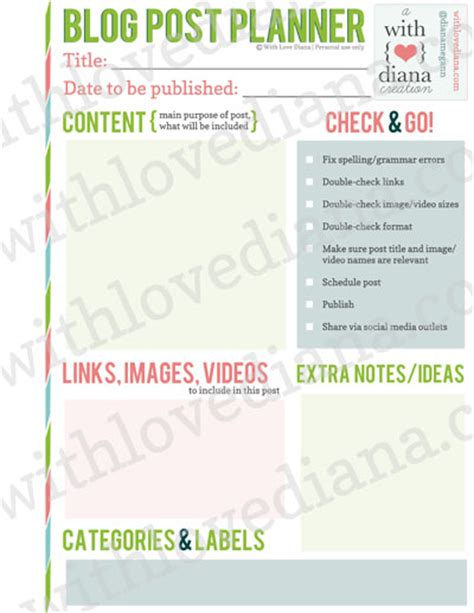 blog planner printable free 2015 20 free printable blog planners fab n free