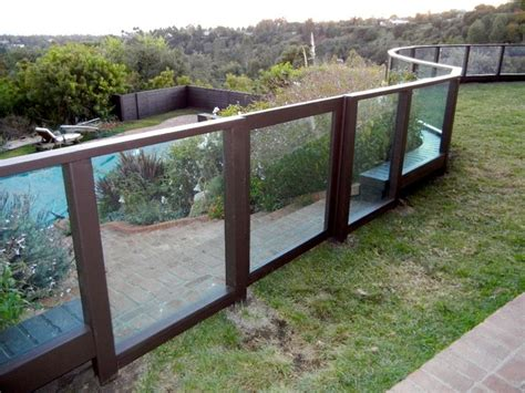 Plexiglass Fence Plexiglass Fence Clear Modern Exterior Los Angeles
