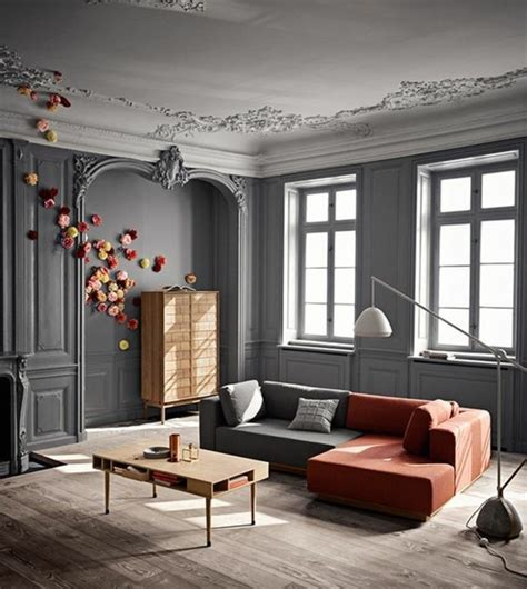 Mur Gris Salon by D 233 Co Salon Gris 88 Id 233 Es Pleines De Charme