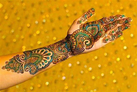 colored henna colored mehndi folder