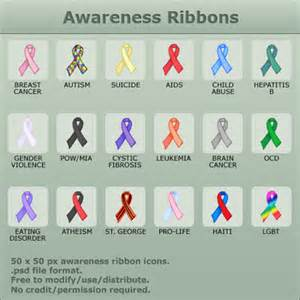 awareness colors awareness ribbons lecol083