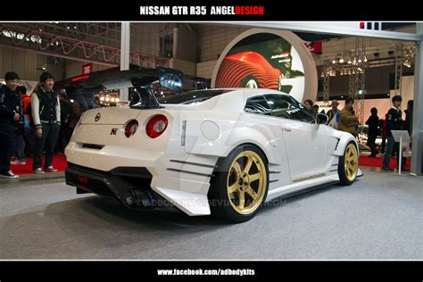custom nissan skyline r35 nissan skyline gtr r35 angeldesign rear by adbodykits on