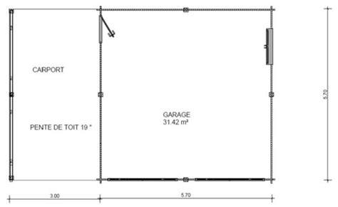 Garageplans by Garage Bois Double Avec Carport Lat 233 Ral
