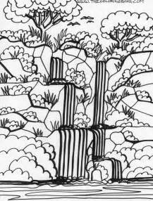 forest color free coloring pages of forest