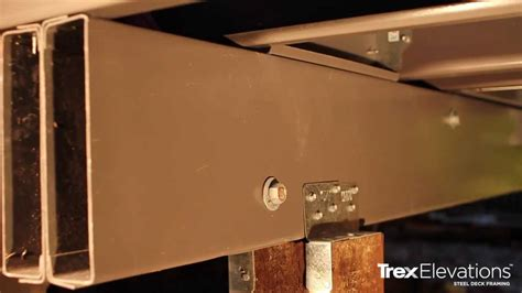 Box Beam by How To Install Trex Elevations Steel Deck Framing 9