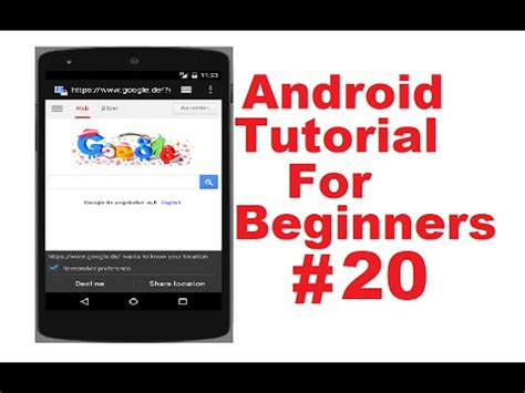tutorial webview android tutorial for beginners 20 android webview