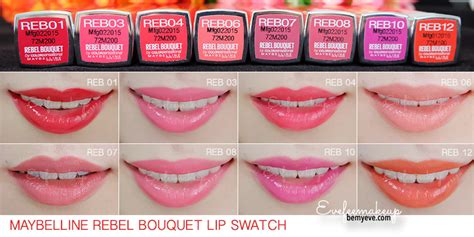 Maybelline Rebel Bouquet swatch maybelline rebel bouquet 8 ส เท ยบ counter brand