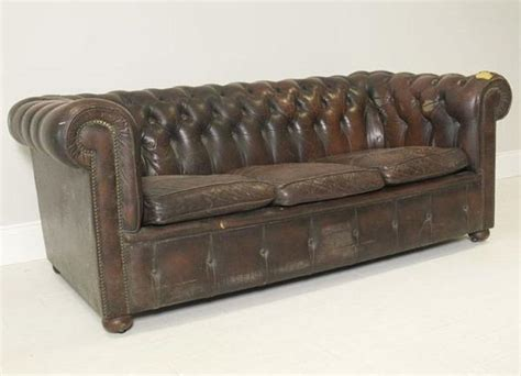 vintage chesterfield sofa history vintage coil sprung leather chesterfield sofa robinson