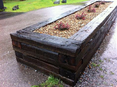 Raised Bed Sleepers by Buckfastleigh Raised Bed With Railway Sleepers