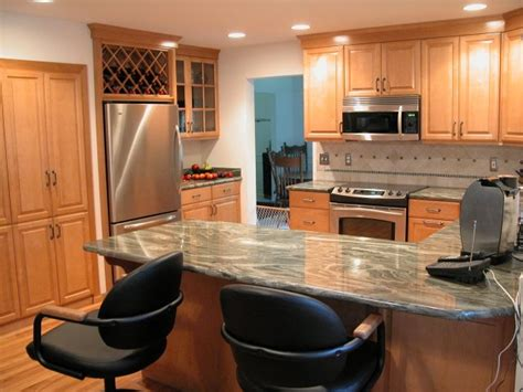 oak cabinets with granite countertops remodel kitchen cost honey oak cabinets with granite