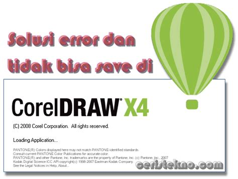 corel draw x4 tidak bisa save solusi coreldraw error dan tidak bisa save file ceristekno
