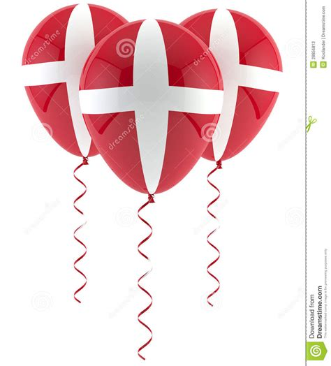 dk licence to dream danish flag balloon stock illustration illustration of