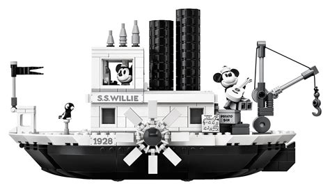 steamboat willie lego celebrates mickey s 90th with new must have steamboat