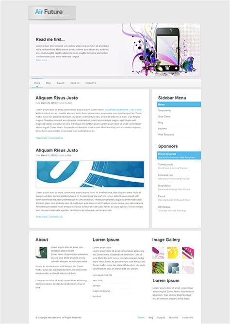 nextgen html template web cufon corporate css