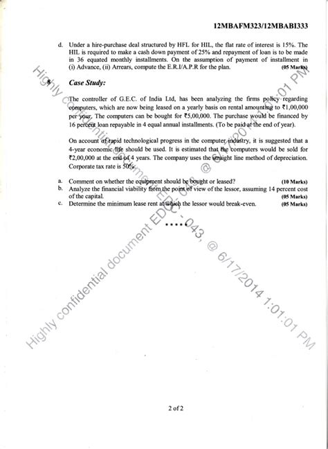 Mba 2014 Question Paper by 3rd Semester Mba June 2014 Question Papers