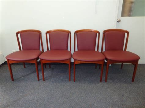 reupholstered dining chairs erik buch set of four teak dining chairs reupholstered in