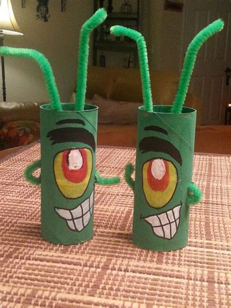 Paper Roll Craft Ideas - your child will be amazed by these spongebob crafts and