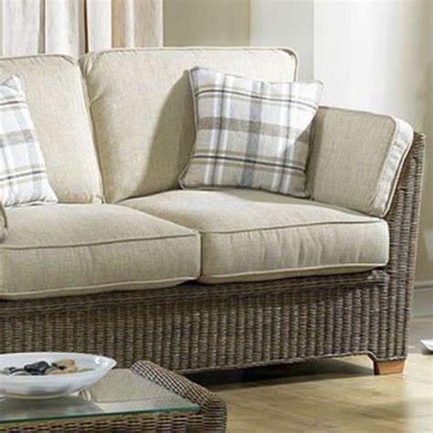 Skipton Sofa Company by 2 Seater Rattan Sofa Skipton Brown Rattan And Teak