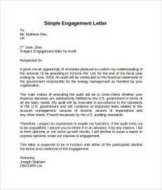 Of Engagement Document Template by 28 Engagement Letter Sle In Word Sle