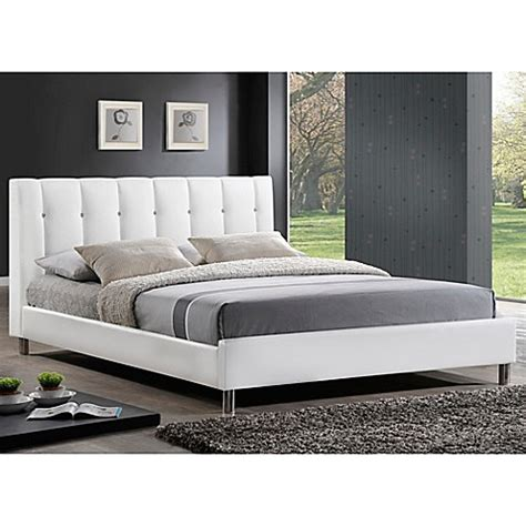 bed bath and beyond headboards vino designer bed with upholstered headboard bed bath