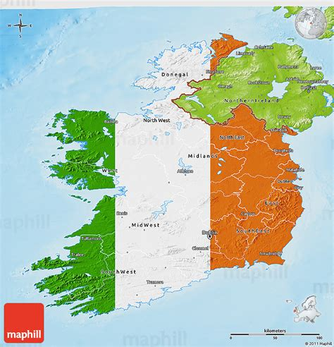 ireland physical map flag 3d map of ireland physical outside