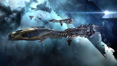 eve  minmatar video games spaceship concept art