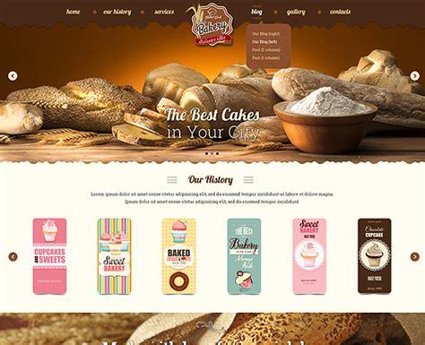 blogger themes bakery cake website template gridgum