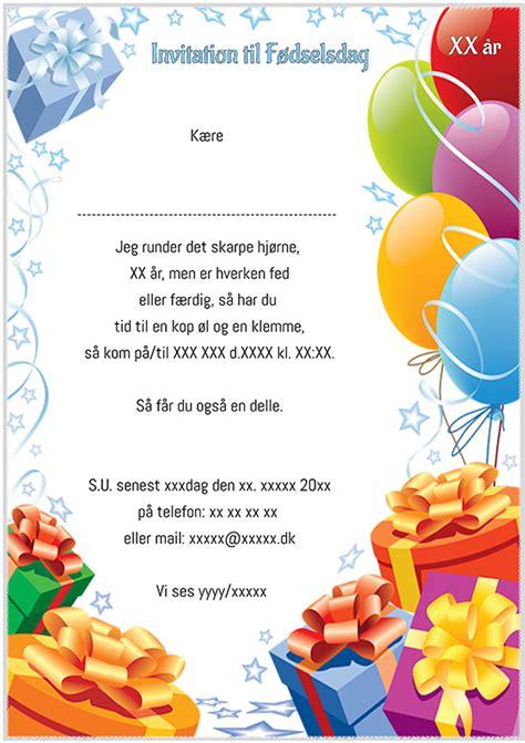 design invitationskort f 248 dselsdag design nr 5