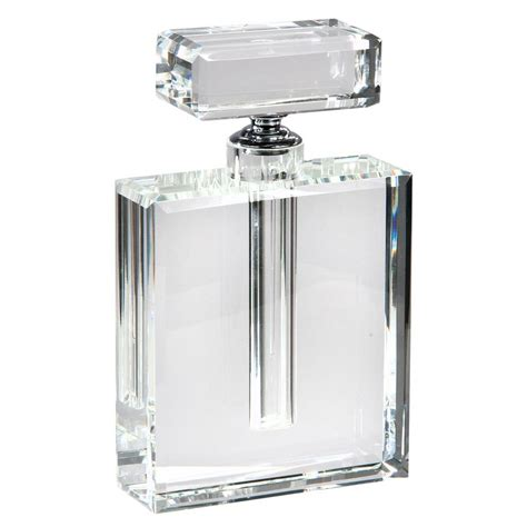 Glass Decorations For Home by Large Luxury Chanel Style Rectangular Clear Crystal