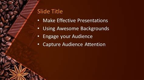 chocolate grains powerpoint template