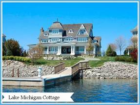 Lake Front House by Home Tour A Lake Michigan Cottage
