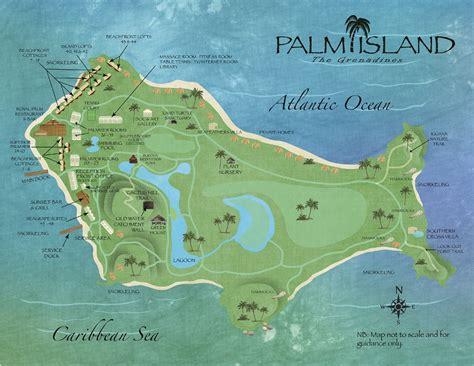 island resort map palm island resort the grenadines image library 187 resort