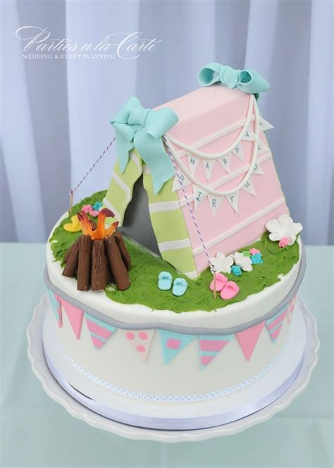 lets  glamping cake ideas pinterest cute cakes camps