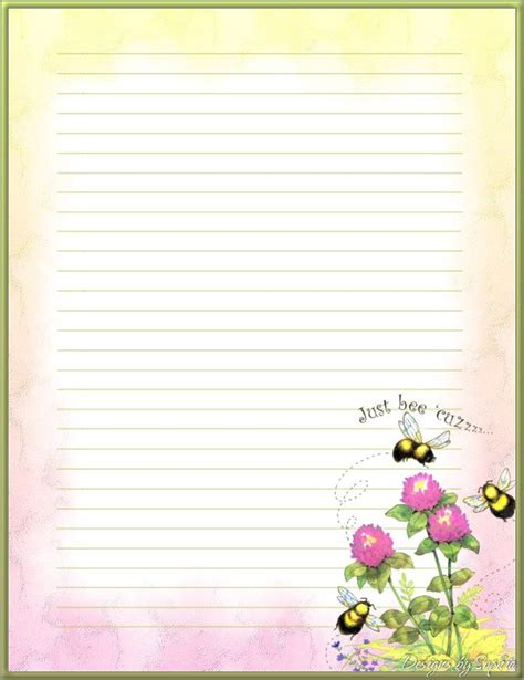 bee writing paper 17 best images about writing paper on floral