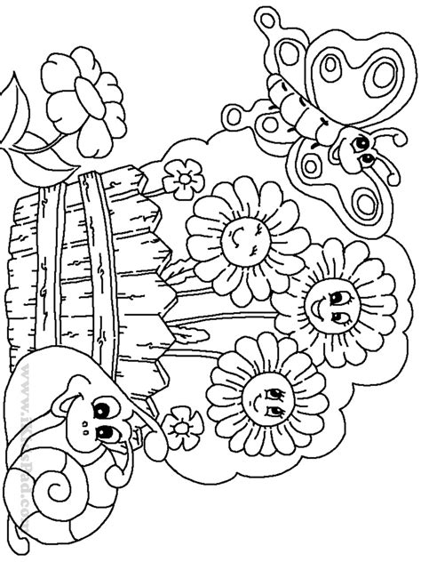 blank garden coloring page garden coloring pages for kids printable