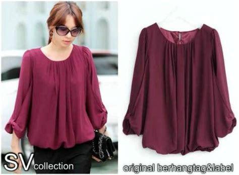 Sc5zhlb Blouse Atasan Lengan Panjang Baju Motif Etnik Modis blouse feminim grenida shiffon koleksi baju wanita korea baju kerja modis