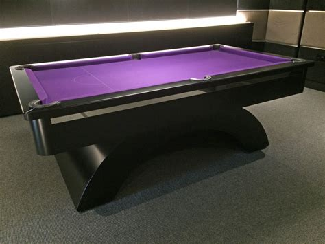 black chrome arched contemporary uk pool table