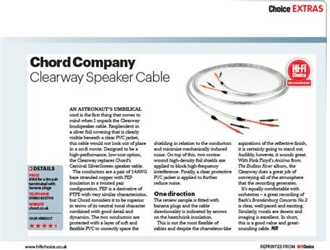 hi fi choice speaker cable reviews product review chord clearway speaker cable hi fi choice